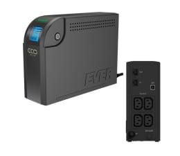 Zasilacz awaryjny (UPS) Ever ECO 500 LCD (500VA/300W, 4xIEC, USB, RJ-45, LCD)
