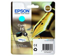 Tusz do drukarki Epson T16 cyan 3.1ml (C13T16224010)