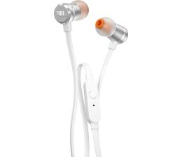 Słuchawki przewodowe JBL T290 Biało-srebrne