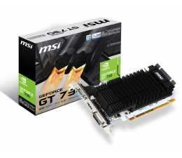 Karta graficzna NVIDIA MSI GeForce GT 730  Low Profile 2GB DDR3