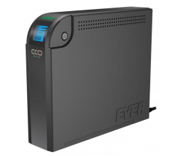 Zasilacz awaryjny (UPS) Ever ECO 800 LCD (800VA/500W, 8xIEC, USB, RJ-45, LCD)