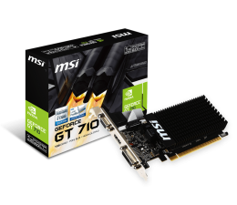 Karta graficzna NVIDIA MSI GeForce GT 710 Low Profile 1GB DDR3