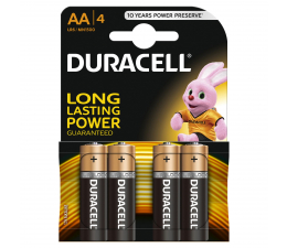 Bateria alkaliczna Duracell Basic AA/LR6 4 szt.