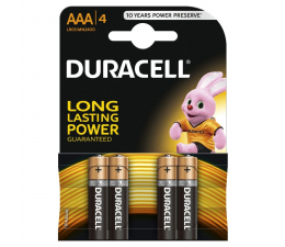 Bateria alkaliczna Duracell Basic AAA/LR03 4 szt.