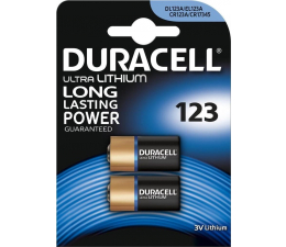Bateria alkaliczna Duracell Photo CR123 Ultra M3 2 szt