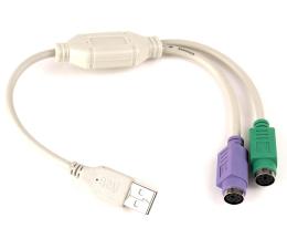 Przejściówka Gembird Adapter USB - PS/2 (klawiatura, mysz)
