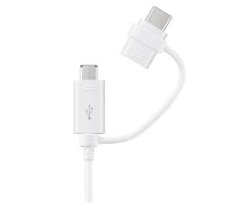 Kabel USB Samsung 2w1 USB C i Micro USB - USB 1.5m
