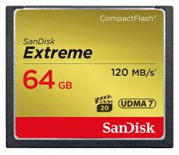 Karta pamięci CF SanDisk 64GB Extreme zapis 85MB/s odczyt 120MB/s