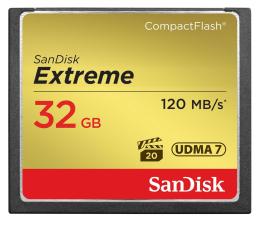 Karta pamięci CF SanDisk 32GB Extreme zapis 85MB/s odczyt 120MB/s