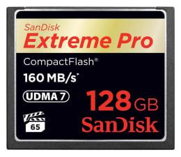 Karta pamięci CF SanDisk 128GB Extreme Pro zapis 150MB/s odczyt 160MB/s