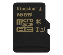 Karta pamięci microSD Kingston 16GB microSDHC Class10 zapis 45MB/s odczyt 90MB/s