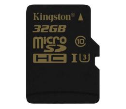 Karta pamięci microSD Kingston 32GB microSDHC UHS-I U3 zapis 45MB/s odczyt 90MB/s