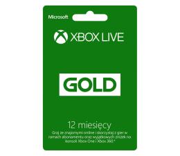 Abonament/PrePaid do konsoli Microsoft Abonament Xbox Live GOLD 12 miesięcy (kod)