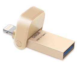 Pendrive (pamięć USB) ADATA 128GB i-Memory AI920 gold (USB 3.1+Lightning)
