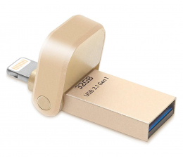 Pendrive (pamięć USB) ADATA 32GB i-Memory AI920 gold (USB 3.1+Lightning)