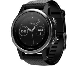 Zegarek sportowy Garmin Fenix 5S Srebrny z Czarnym Paskiem