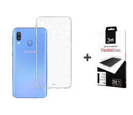 3mk Zestaw Armor Case + Flexible Glass do Galaxy A40 (498713 + 486463)