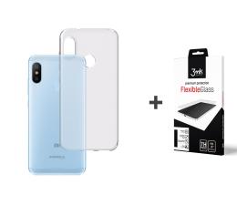 3mk Zestaw Clear Case + Flexible Glass do Mi A2 Lite (500041 + 458083)