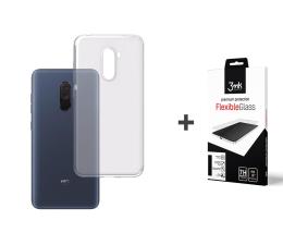 3mk Zestaw Clear Case + Flexible Glass do Pocophone F1 (500043 + 452788)