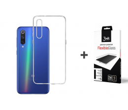 3mk Zestaw Clear Case + Flexible Glass Xiaomi Mi 9 SE (500045 + 496520)