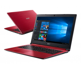 Acer Aspire 3 i3-8130U/4GB/256+1TB/Win10 FHD Czerwony (A315-53 || NX.H41EP.001)