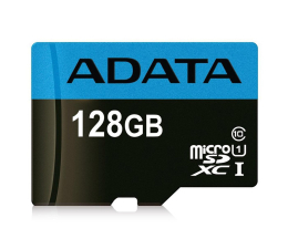 ADATA 128GB microSD Premier UHS1 CL10 85/25MB/s+adapter (AUSDX128GUICL10 85-RA1)