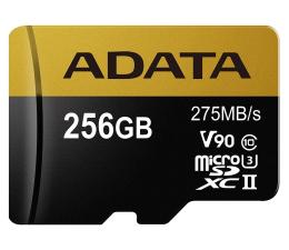 ADATA 256GB microSDXC zapis 155MB/s odczyt 275MB/s  (AUSDX256GUII3CL10-CA1)