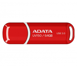 ADATA 64GB DashDrive UV150 czerwony (USB 3.1) (AUV150-64G-RRD )