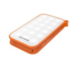 ADATA Power Bank D8000 2.1A LED pomarańczowy (AD8000L-5V-COR)