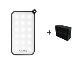 ADATA Power Bank D8000 LED + Głośniki Muvo 1C (AD8000L-5V-CBK + 51MF8251AA000)