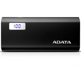ADATA Power Bank P12500D 12500mAh 2A (czarny) (AP12500D-DGT-5V-CBK)