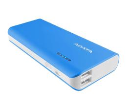 ADATA Power Bank PT100 10000 mAh 2.1A niebieski/biały (APT100-10000M-5V-CBLWH)