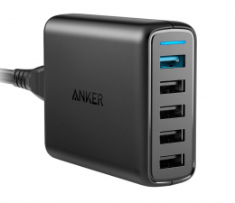 Anker Ładowarka sieciowa 5x USB, QC 3.0 (A2055G11)