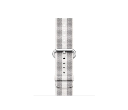 Apple 38mm Woven Nylon White Stripe (MQVH2ZM/A)