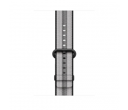 Apple 42mm Woven Nylon Black Stripe (MQVR2ZM/A)