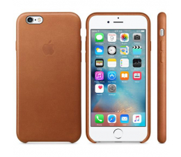 Apple iPhone 6s Leather Case jasny brązowy (MKXT2ZM/A)