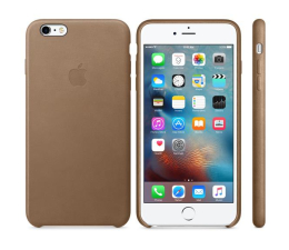 Apple iPhone 6s Plus Leather Case brązowy (MKX92ZM/A)