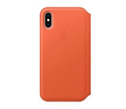 Apple  iPhone XS Leather Folio pomarańczowe  (MVFC2ZM/A)