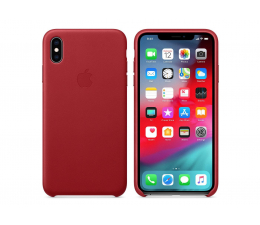 Apple iPhone XS Max Leather Case Product Red  (MRWQ2ZM/A)