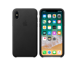 Apple Leather Case do iPhone X Black (MQTD2ZM/A)