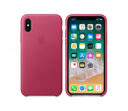 Apple Leather Case do iPhone X Pink Fuchsia (MQTJ2ZM/A)