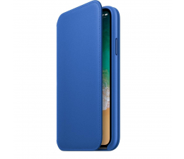 Apple Leather Folio do iPhone X Electric Blue (MRGE2ZM/A)