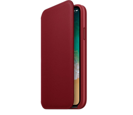 Apple Leather Folio do iPhone X Red (MRQD2ZM/A)