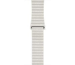 Apple Loop Skórzany do Apple Watch 42mm biały L (MMAX2ZM/A)