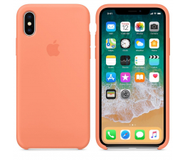 Apple Silicone Case do iPhone X Peach (MRRC2ZM/A)