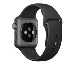 Apple Silikonowy do Apple Watch 38 mm czarno-stalowy (MJ4F2ZM/A)