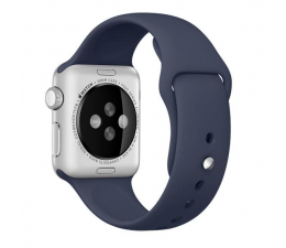 Apple Silikonowy do Apple Watch 38 mm granatowy (MLKX2ZM/A)