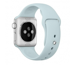 Apple Silikonowy do Apple Watch 38 mm turkusowy (MLDH2ZM/A)