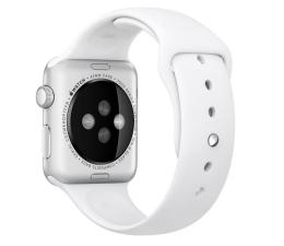 Apple Silikonowy do Apple Watch 42 mm S/M M/L biały (MJ4M2ZM/A)