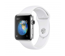 Apple Watch 2 42/Stainless Steel/White Sport Band (MNPR2MP/A)